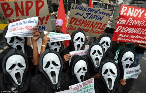 Antinuclear Activists in Manila Phillipines