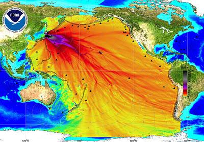 Fukushima radioactive oceanic water movement chart 1-1-14
