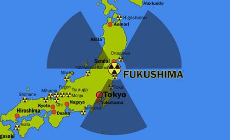 Fukushima symbol of radiation