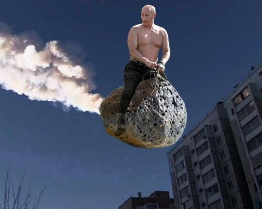 Putin Riding a Space Rock