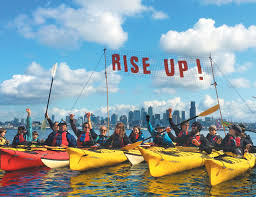 Seattle Kayaks RISE UP sign