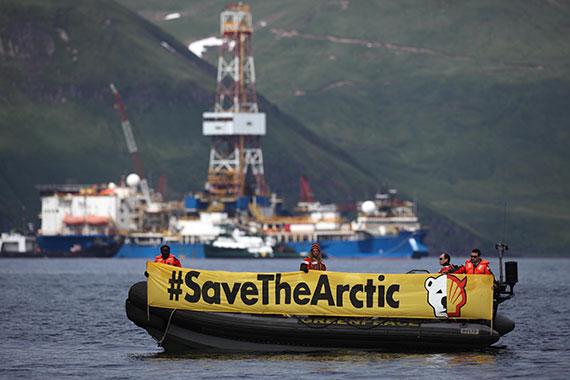 Arctic Drilling Protest in Dutch Harbor