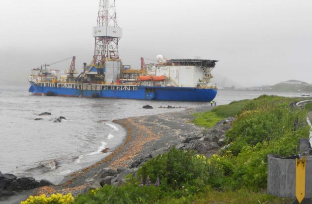 Shell Oil Rig Beached