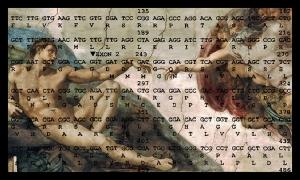 Overlapping DNA open_Letters_art_-_Creation_of_Adam_Michelangelo